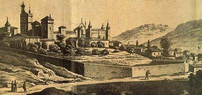 Grabado monasterio siglo xvi