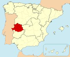 MAPA UBICACIÓN CACERES