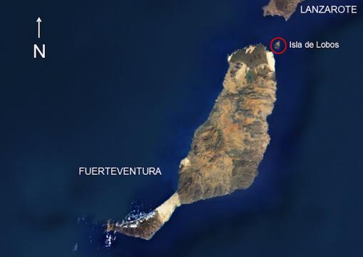 Localización Isla de Lobos.Fuerteventura