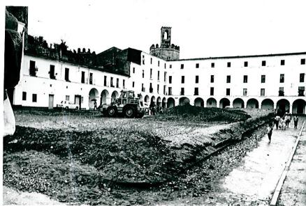 Arreglo Plaza Alta tras desmontaje 1975